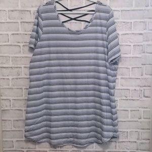 3/$20Ti Voglio Penningtons Striped T-Shirt Size 2X
